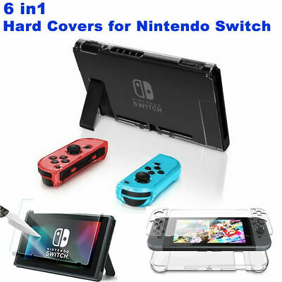 Clear Hard Cover Case + Ultra thin Screen Protector For Nintendo Switch Console