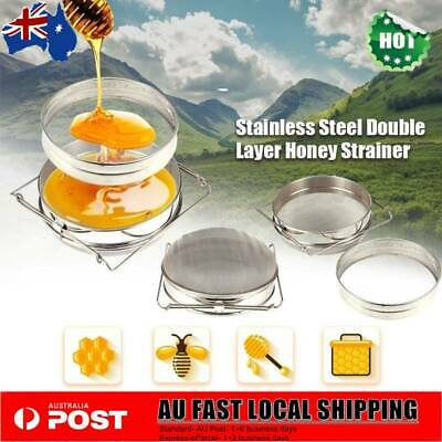 Honey Filter Strainer Double Layer Stainless Steel Tea Filter Beekeeping Tools