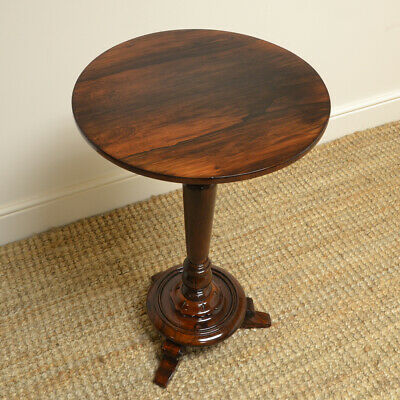 Spectacular Victorian Rosewood Circular Antique Occasional Table