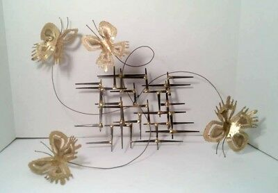 Vintage kinetic Brutalist Nail Art and Torch Cut Metal Sculpture - by Lou Blass