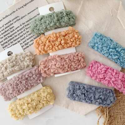 Girls Lovely Lambs Wool Hairpin Hair Clip Snap Barrette Bobby Hair Accessories