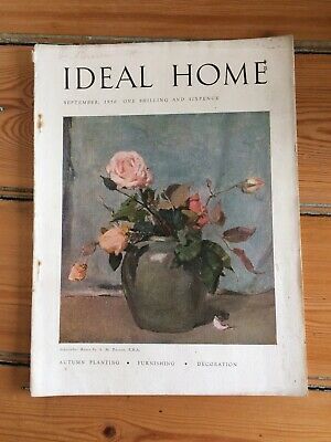 Vintage Ideal Home magazine from September 1950