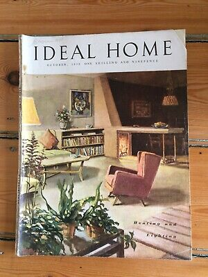 Vintage Ideal Home magazine from October 1950