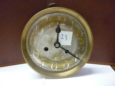 Rare Art Deco Ting Tang Striking Wall Clock Spring Driven Movement+Dial (Z3)