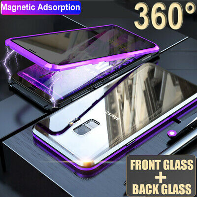 360° Magnetic Privacy Double Sides Glass Case Cover for Samsung Galaxy S8 S9 S10