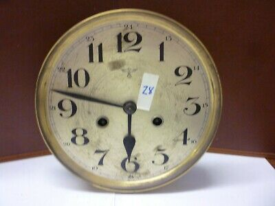German Art Deco Striking Wall Clock Spring Driven Movement+Dial (Z8)