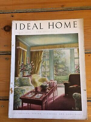 Vintage Ideal Home magazine from April 1951