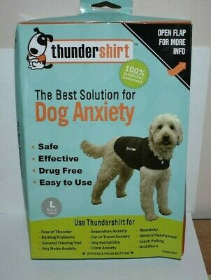 Thundershirt Dog  Anxiety Calming Treatment L Dogs Solid Gray