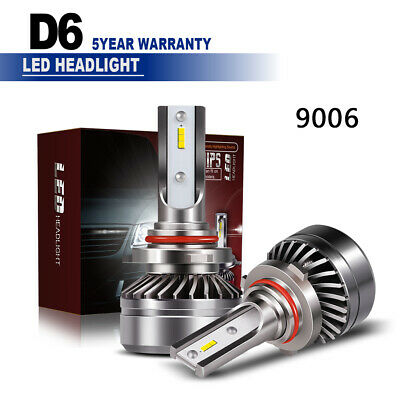 TURBSOSII 9006 HB4 60W 12000LM CSP LED Headlight Chip 6000K Low Beam Bulbs LXE