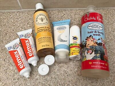 Child's/Baby's Toiletries small joblot, Shampoo/Toothpaste/spf50+/aftersun