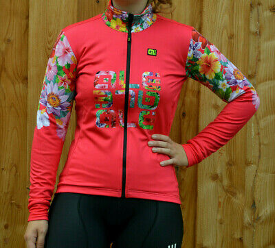 Alé Ale Solid Lab Flowers Lady DWR Damen Winter Stretch Fahrrad Jacke pink