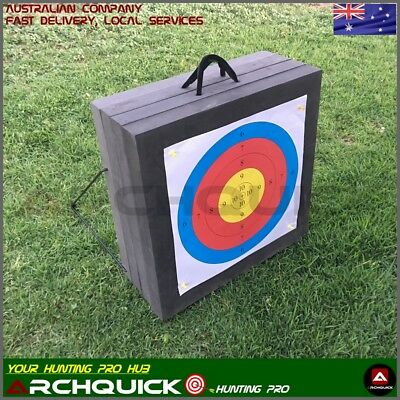 Heavy Duty 4 Layers 3D Archery Target 50x50x20cm High Density Foam With Stand