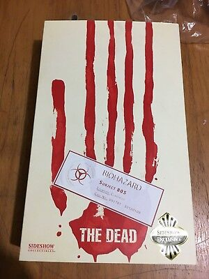 Sideshow The Dead Subject 805 Tactical Containment Spooktacular Exclusive SEALED