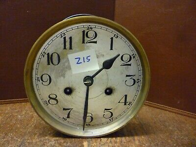 Original German Art Deco Striking Wall Clock Spring Driven Movement+Dial (Z15)