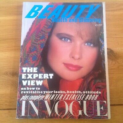 UK Vogue  magazine  1982  Beauty health and  slimming  autumn winter