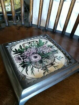 Victorian Cast Iron And Tile Pot Stand