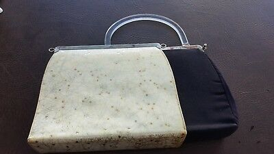 Vintage Mid Century Spaceage  Purse, Small Hand Bag, Funky Retro Cute removable