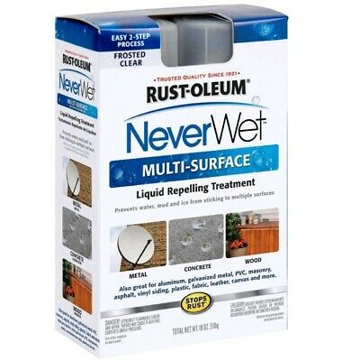 Rust-Oleum Never Wet Multi Purpose Kit Liquid Repelling Treatment Frosted Clear