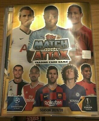 Match Attax 2019/20 Full Set Of All 252 Base Cards In Binder Mint + Limited