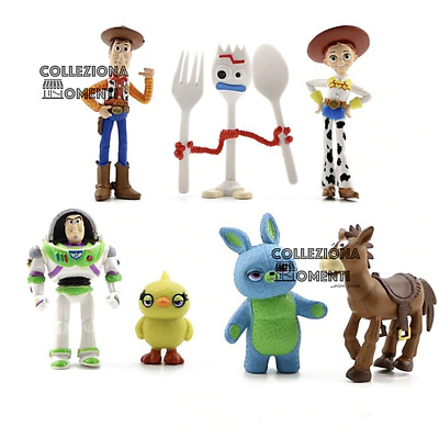 Personaggi Toy Story 4 Set 7 Statuette Action Figure Woody Buzz Lightyear Jessie