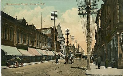 Canada Victoria - Government Street postcard