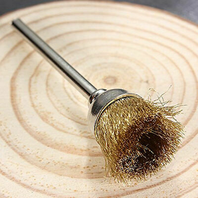 5pcs Set 3mm Shank Polishing Brass Wire Wheel Cup Brushes Cleaning New. Rot X4Z2