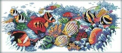 Tropical Fish (2). 14CT Counted Cross Stitch Kit. Craft Brand New.