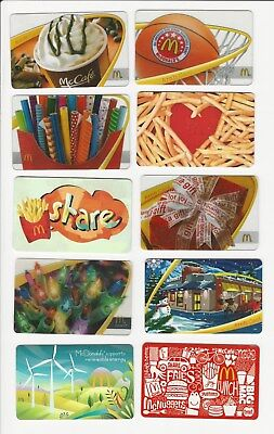 Mcdonald's Gift Cards No Cash Value Collectible Only Never Used