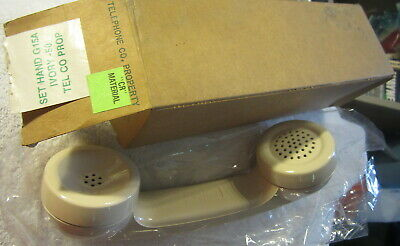 New Western Electric NOS Telephone IVORY Handset receiver G15A-50,phone,in box
