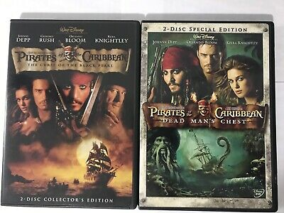 PIRATES OF THE Caribbean DVD 2 Dead Man's Chest - $5 44