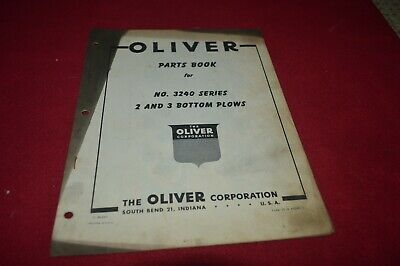 Oliver Tractor 3240 Mounted Plow Dealer's Parts Book Manual AMIL15