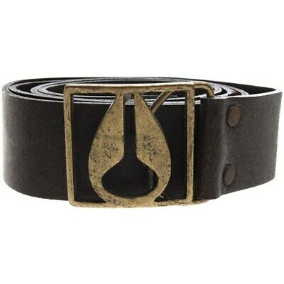 Nixon Icon Buckle Leather Belt - Distressed Brown