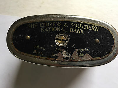 Vintage The Citizens & Southern National Bank Metal Bank Traveling Teller