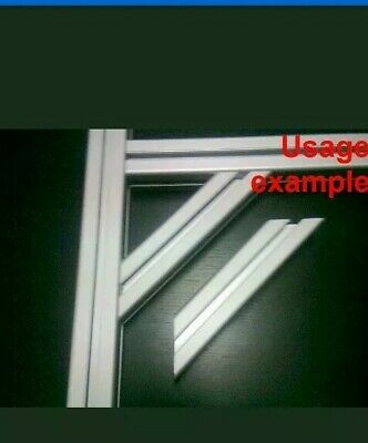 Aluminum T-slot 20 30 or 40 profile 135 deg.angle support 60x60x6mm L120mm 2-set
