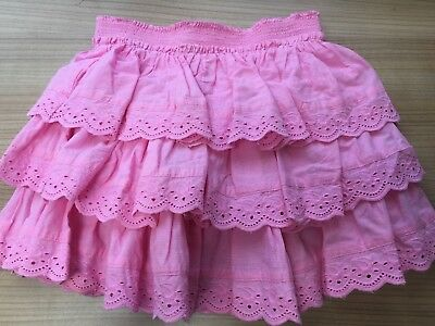 Next Girls Pink Frill Skirt 4 Years Lovely Vgc