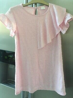 Next Girls Gorgeous Light Pink Sequin Dress 7 Years Hardly Worn Vgc