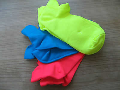 Boys / Girls Brightly Coloured Ankle Trainer Socks New