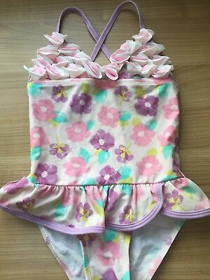 Girls Gorgeous Pink Lilac Flower Swimming Costume 6 Years Vgc Floatimini