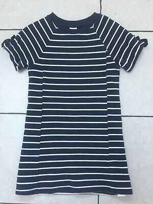 Next Girls Sweatshirt Navy Stripe Dress 7 Years Vgc Hardly Worn