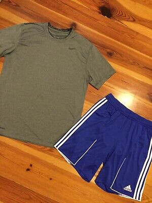 Lot Of 2 Men's XL Nike Pro Combat T-shirt, Adidas Climacool Athletic Shorts