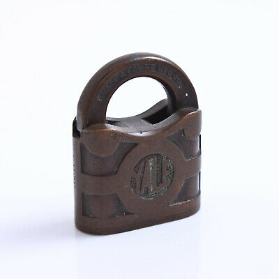 *NO KEY* VINTAGE 1920's YALE & TOWNE MFC CO. STAMFORD CONNECTICUT USA PADLOCK