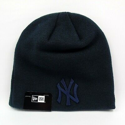 New Era Cap Men's MLB New York Yankees Team Basic Short Knit Winter Beanie Hat