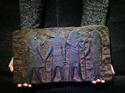 EGYPTIAN ANTIQUE ANTIQUITY Bearing Gifts for Isis Stela Stele 1213-1279 BC