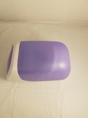 Lavender N White Plastic DVD/CD Holder With A Collection Of Discs
