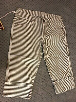 Girls Cropped Striped Replay Trousers