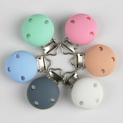 Baby Silicone Nipple Teether Pacifier Soother Clasps Infant Pacifier Clip Holder