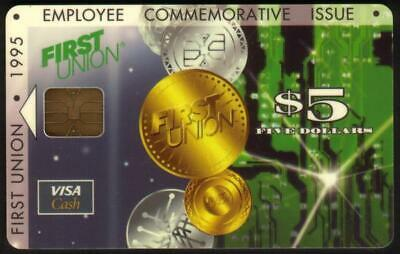 $5. Employee Commemorative Medal Collage 1995 Issue VISA Cash SVC Smart Card
