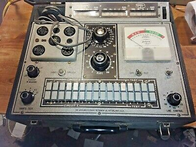 Vintage Jackson 648R Dynamic Tube Tester VINTAGE..Turns on Untested
