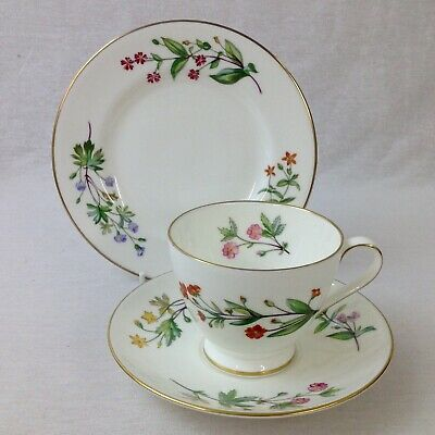 Minton Meadow Tea Trio Cup Saucer Plate Floral Excellent
