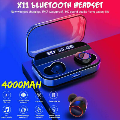 X11 TWS Wireless Earphones bluetooth 5.0 Headset Mini Earbuds LED Headphones SPD